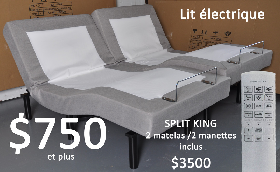 lit lectrique club matelas l 39 entrep t de matelas. Black Bedroom Furniture Sets. Home Design Ideas