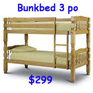 bunkbed honey poteau 3po