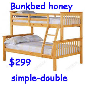 Bunkbed en pin simple et double
