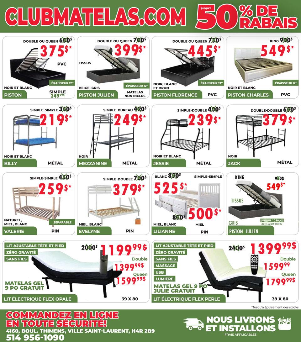 clubmatelas.com base de lit et matelas